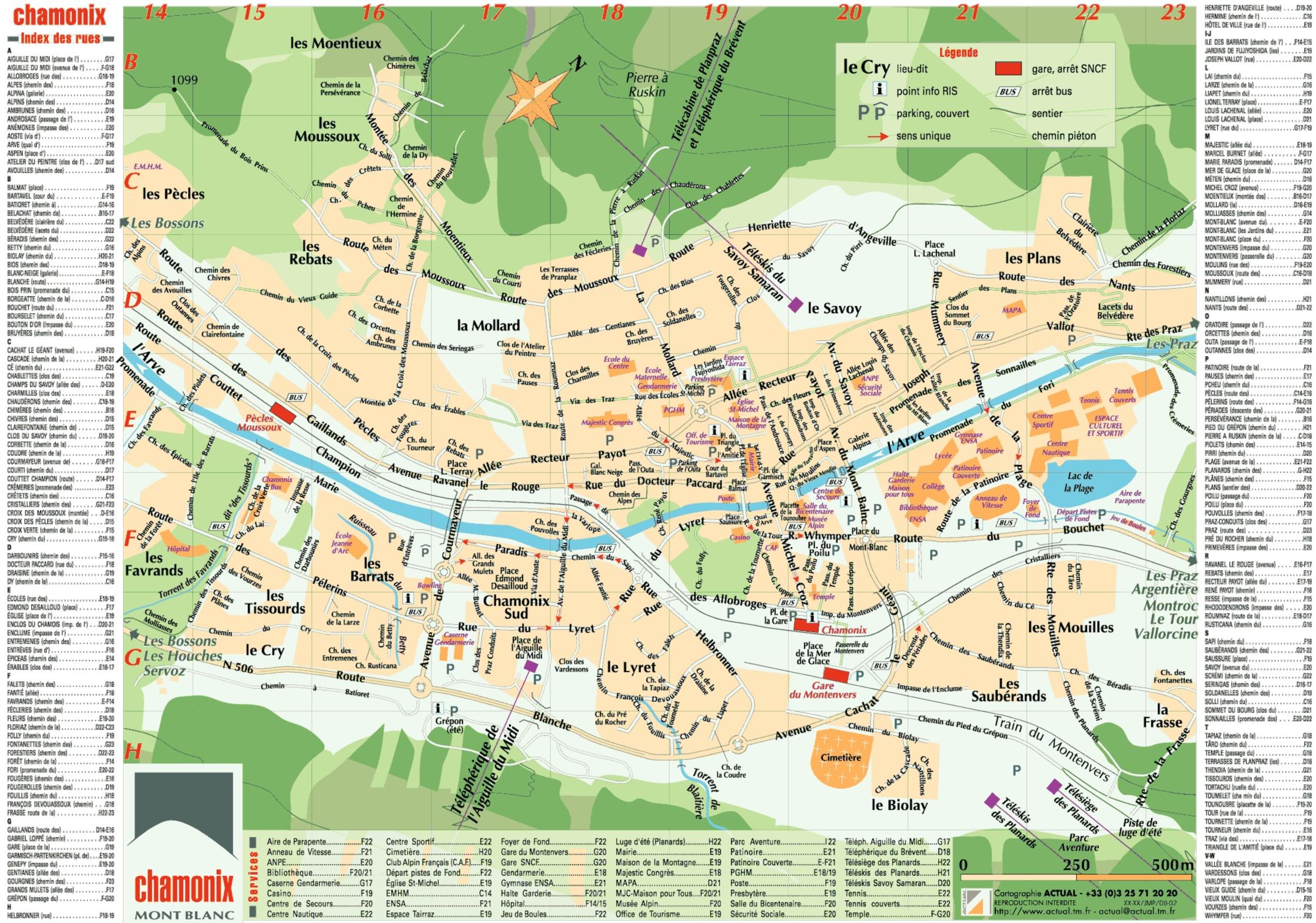 Chamonix Town Map