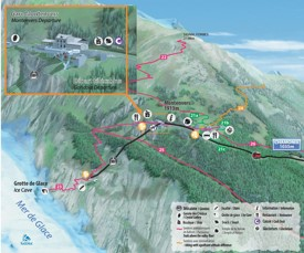 Montenvers summer map
