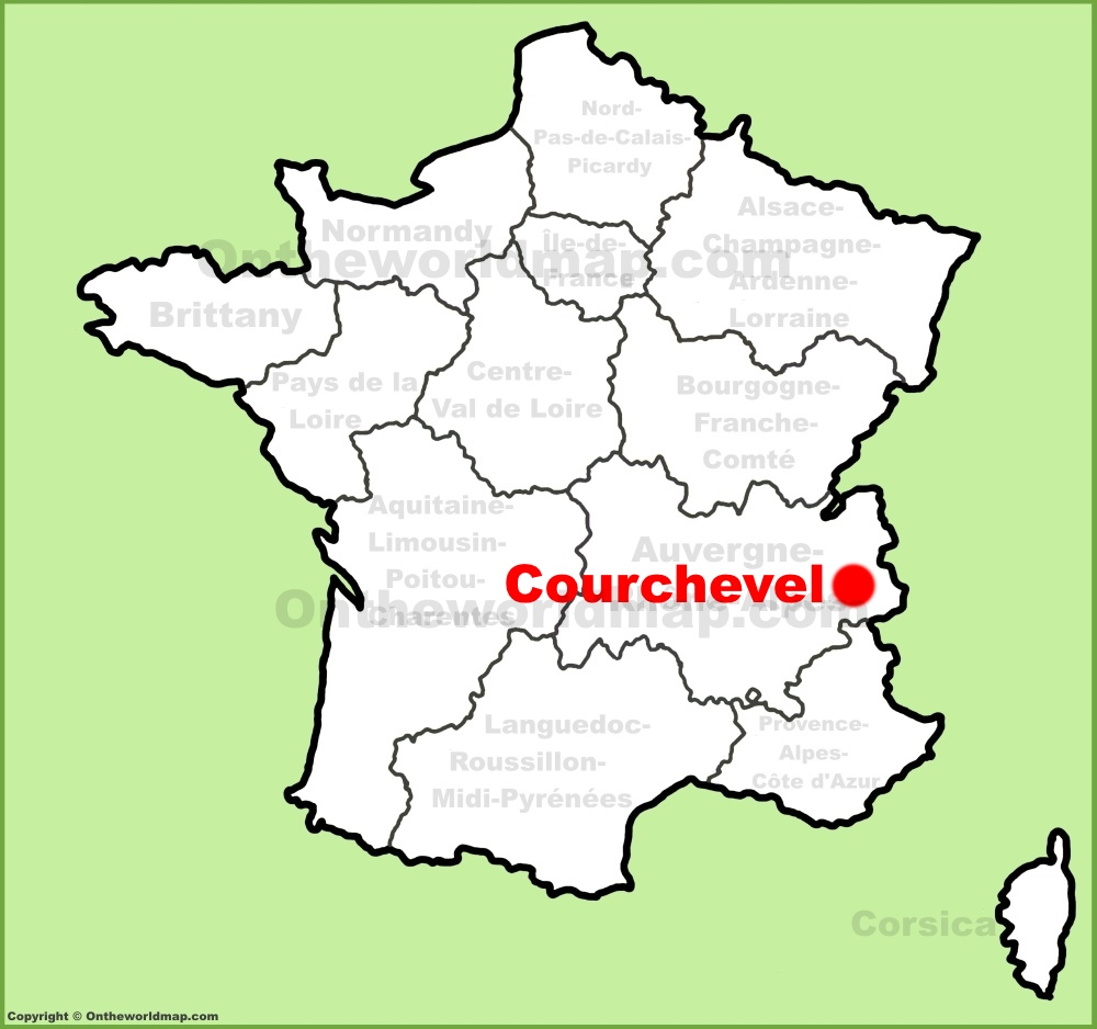 Courchevel location on the France map