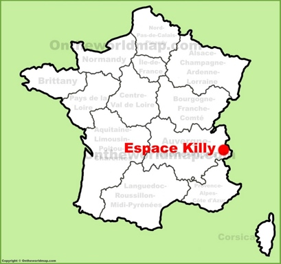 Espace Killy Location Map