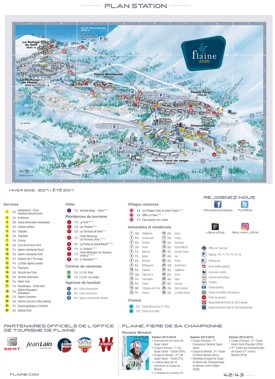 Flaine hotel map