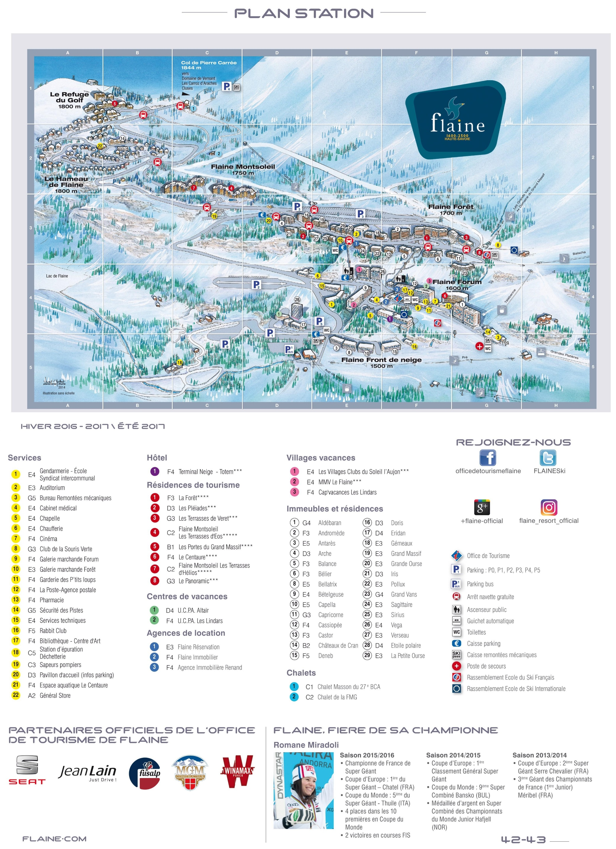 Flaine Maps | France | Maps of Flaine