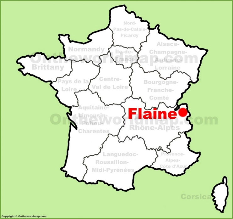 Flaine location on the France map