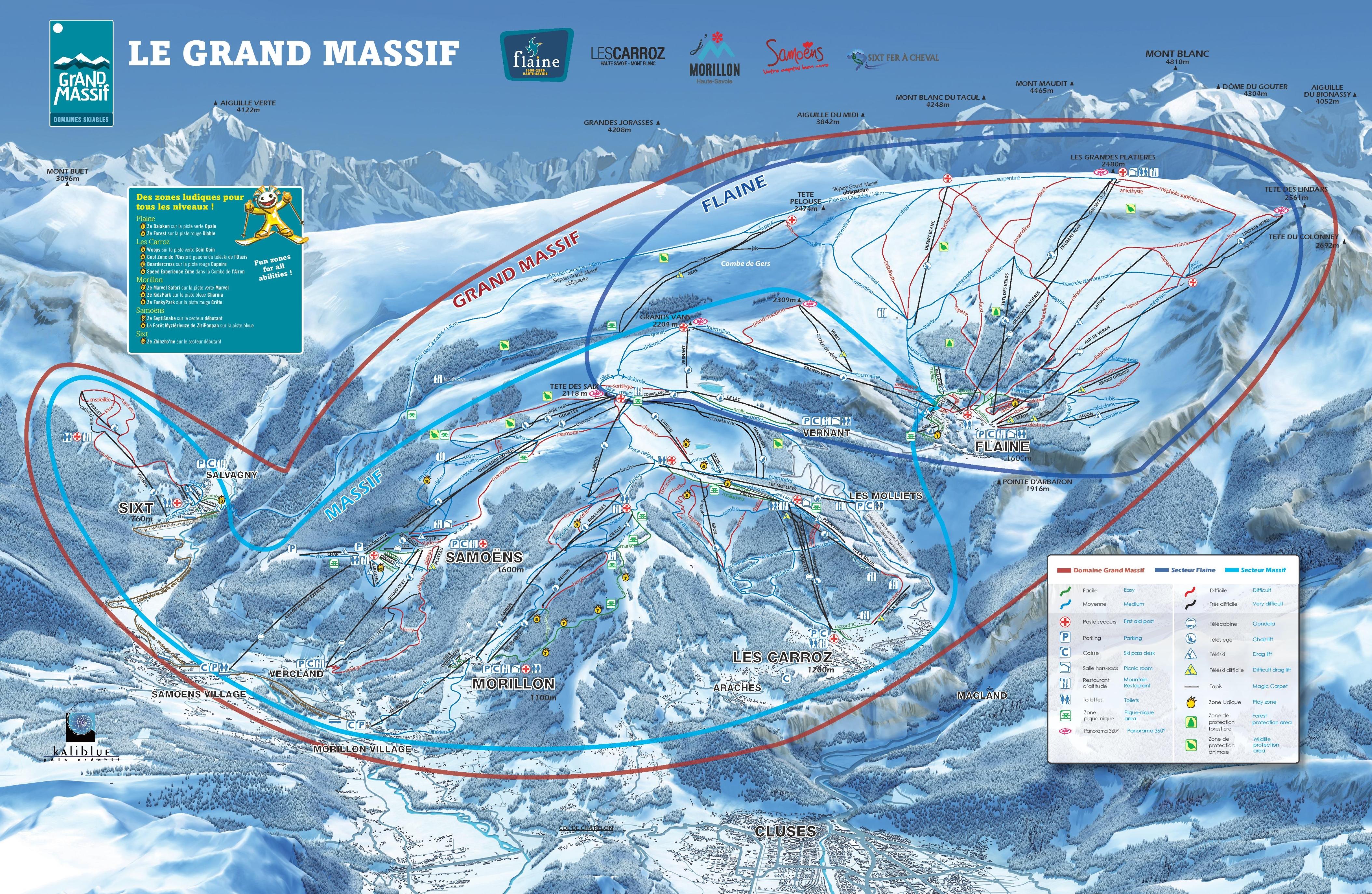 Flaine Piste Maps and Ski Resort Map