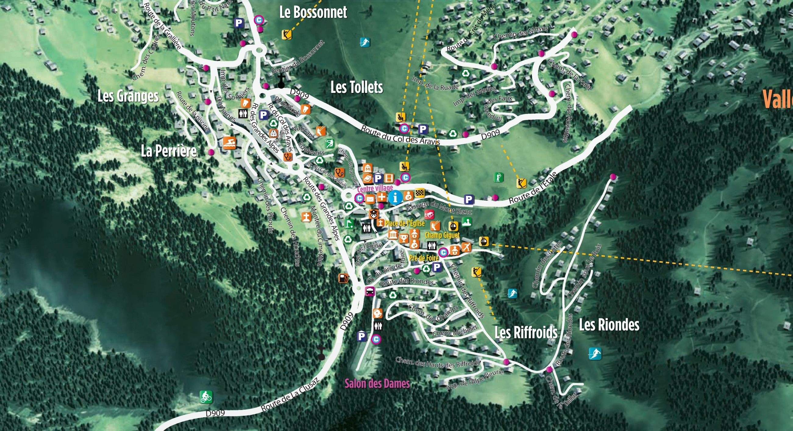 La Clusaz Maps France Maps of La Clusaz
