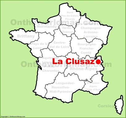 La Clusaz Location Map
