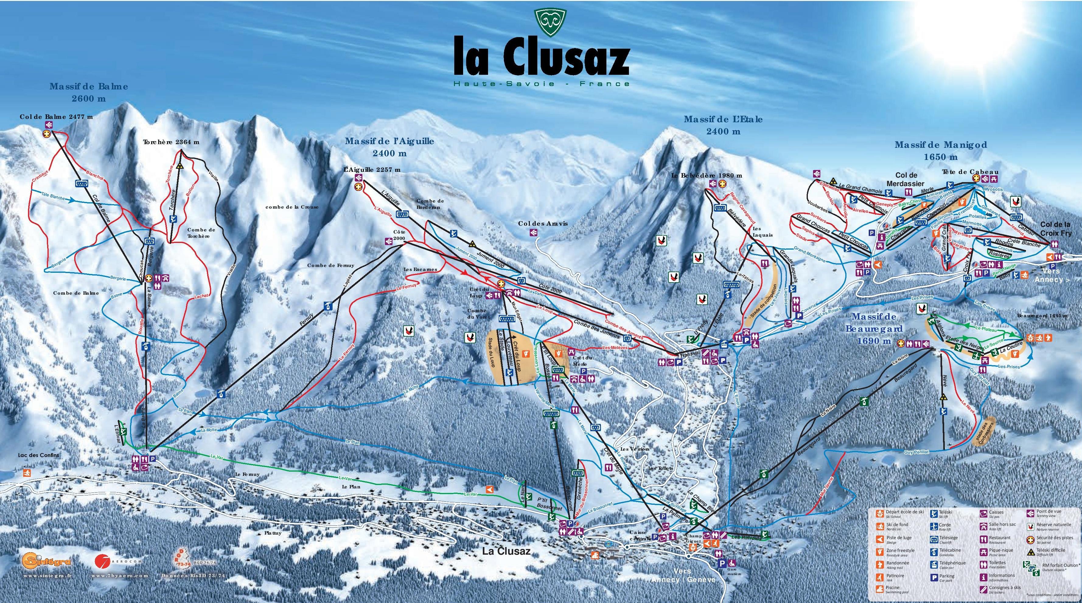 La Clusaz Piste Map