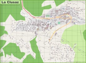 Large detailed map of La Clusaz