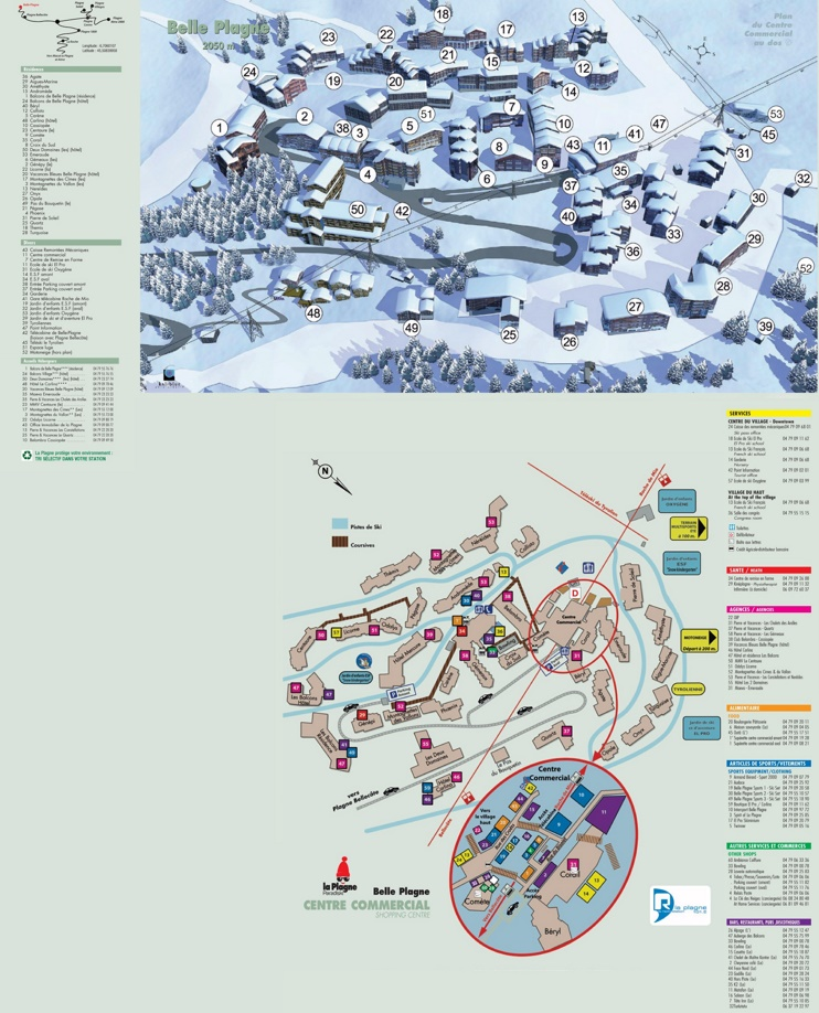 Belle Plagne map
