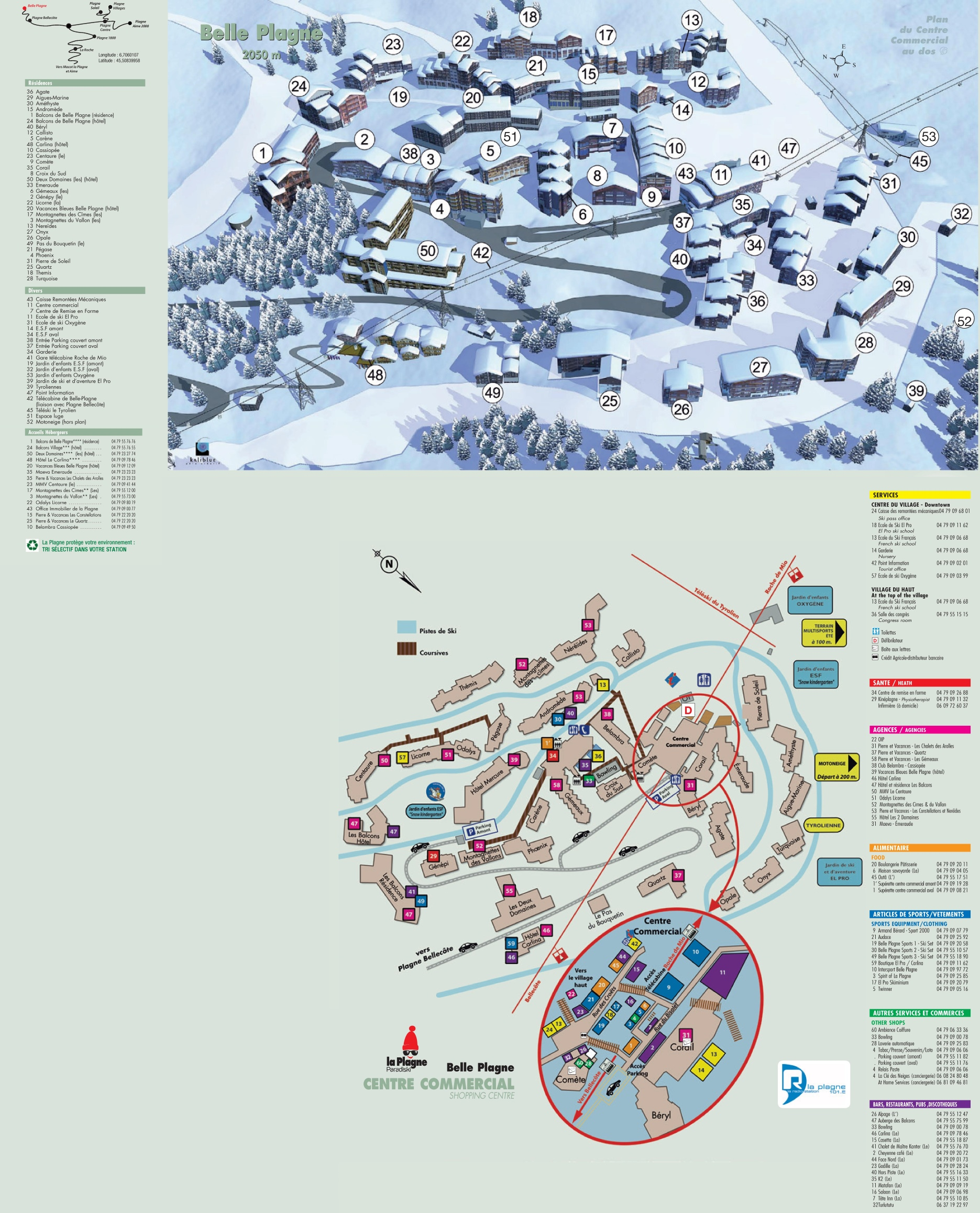 Belle Plagne map