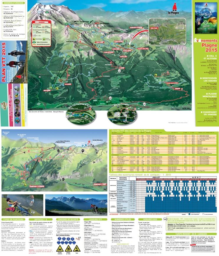 La Plagne bike map