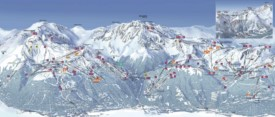 La Plagne and Les Arcs ski map