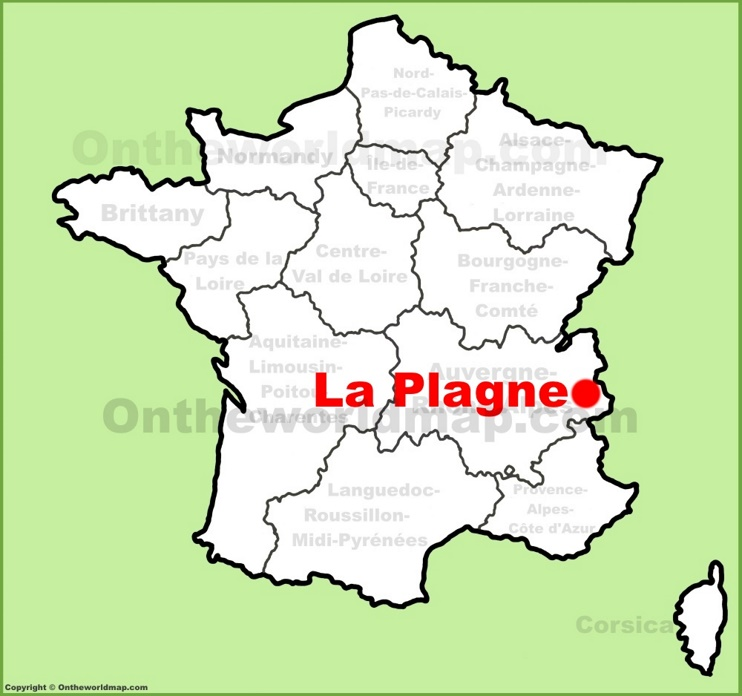 La Plagne location on the France map