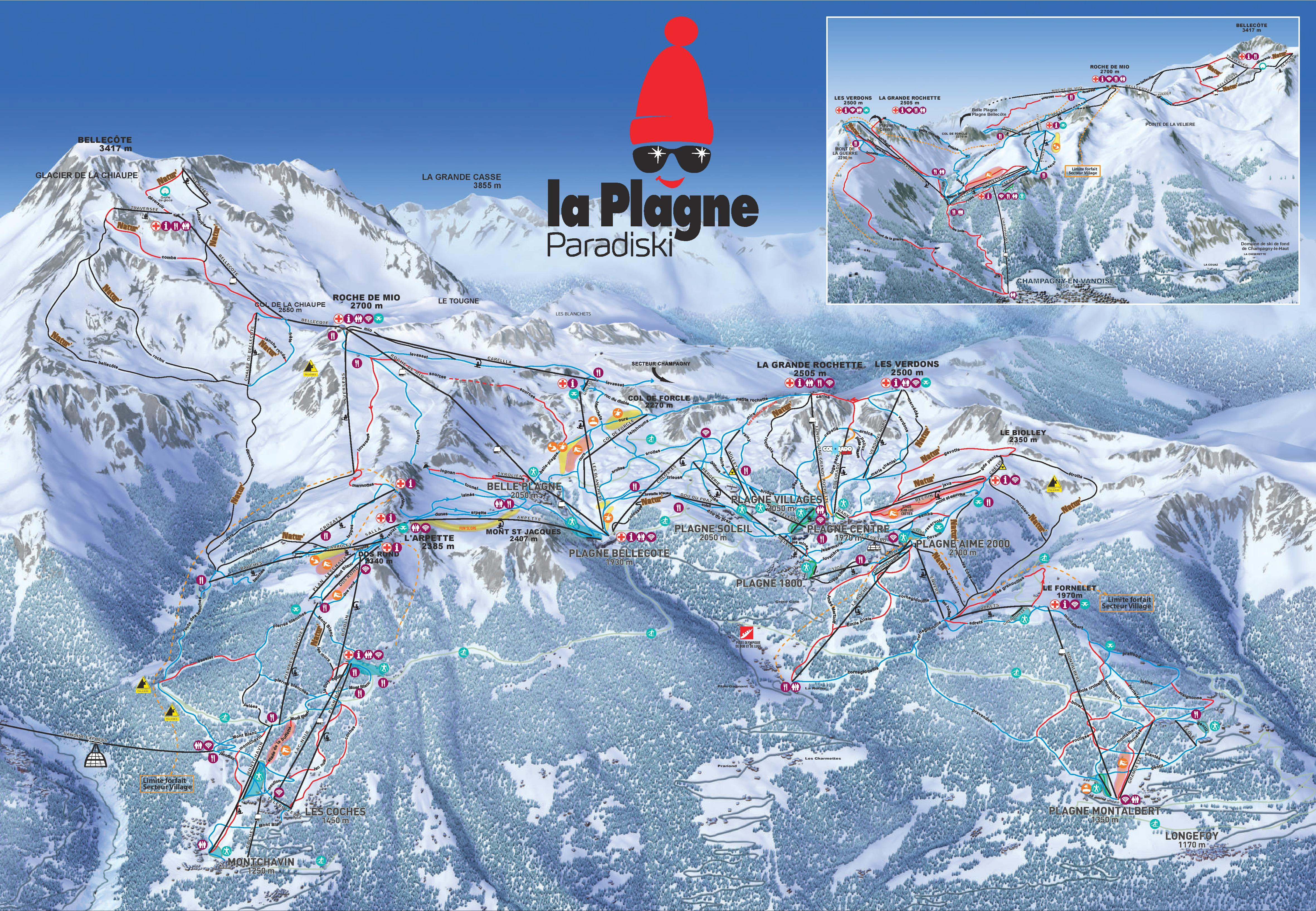 La Plagne Maps France Maps of La Plagne