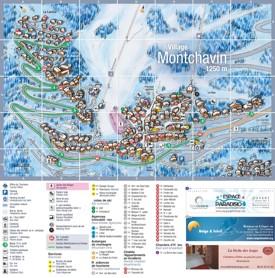 Montchavin ski map