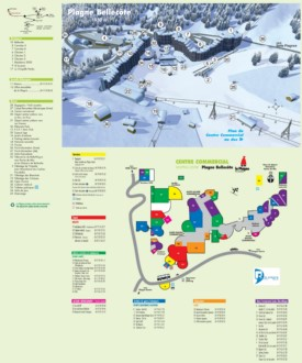 Plagne Bellecôte map
