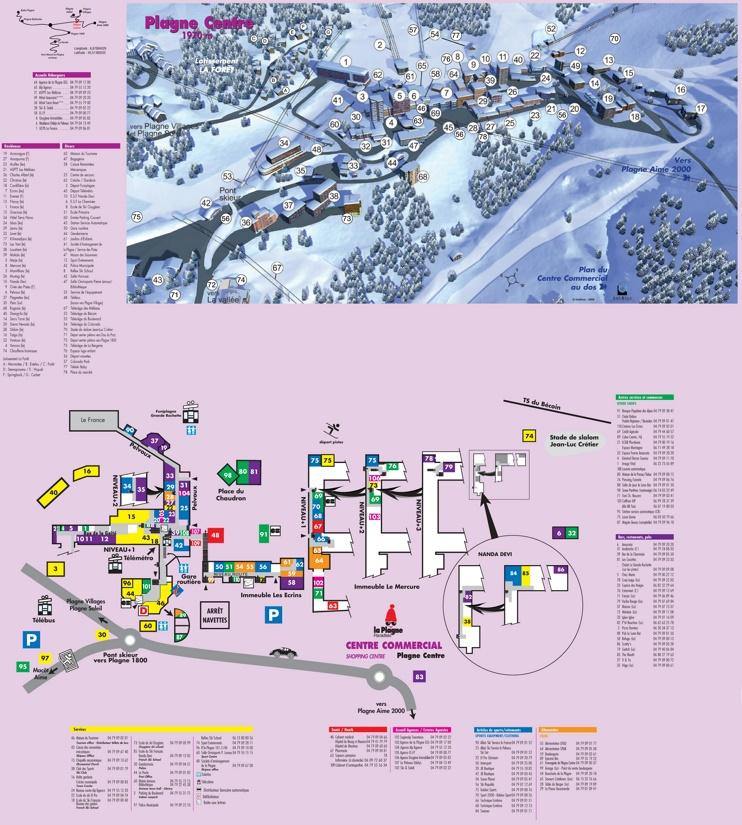 Plagne Centre map