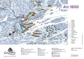 Les Arcs 1600 map