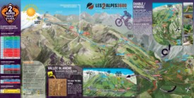 Les Deux Alpes bike map