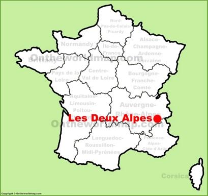 Les Deux Alpes Location Map