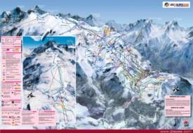 Les Deux Alpes piste map