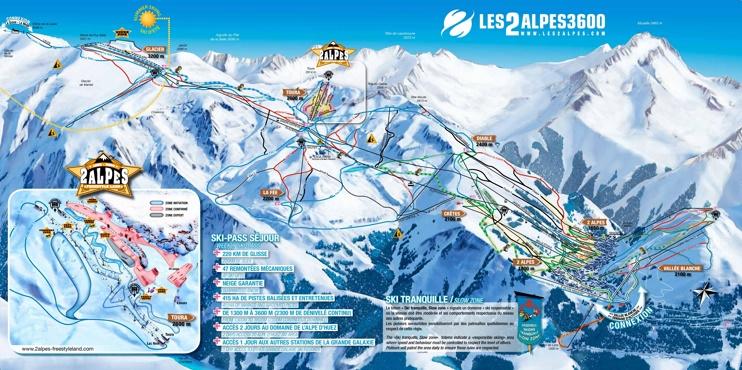 Les Deux Alpes ski map