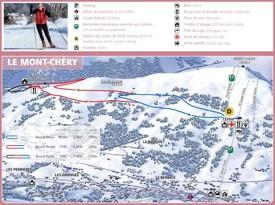 Le mont Chéry ski map