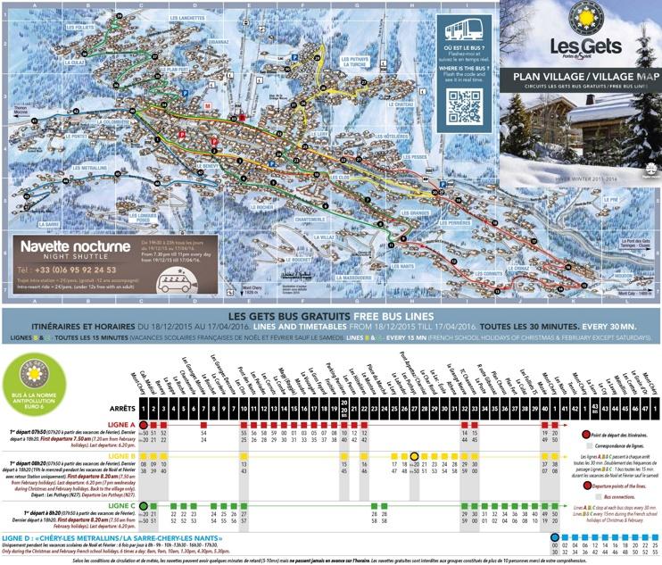 Les Gets bus map