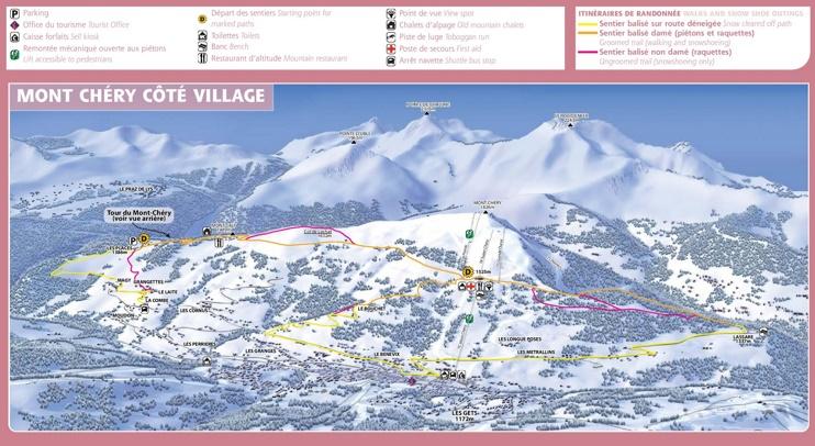 Les Gets - Cote Village map