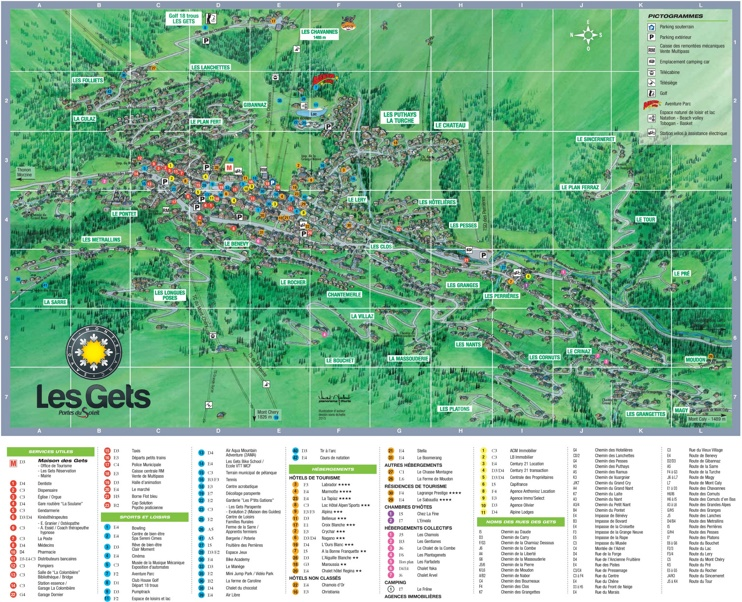 Les Gets hotel map