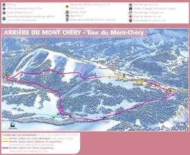 Les Gets - Le Mont Chéry map