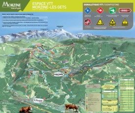 Les Gets and Morzine bike map