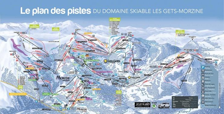 Les Gets and Morzine ski map
