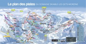 Les Gets and Morzine ski map