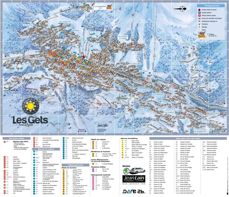 Les Gets tourist map