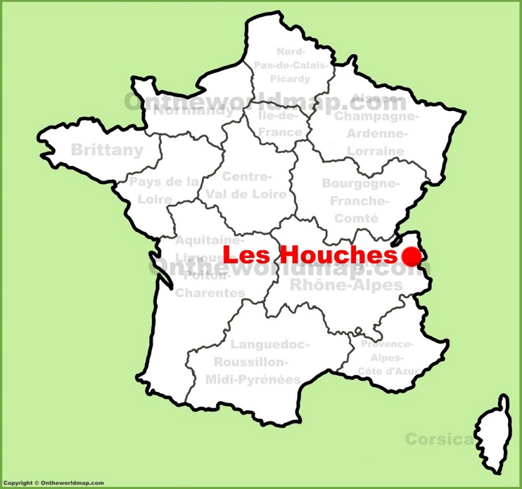 Les Houches location on the France map
