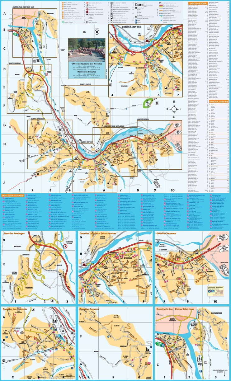 Les Houches resort map