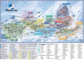 Les Menuires hotel map