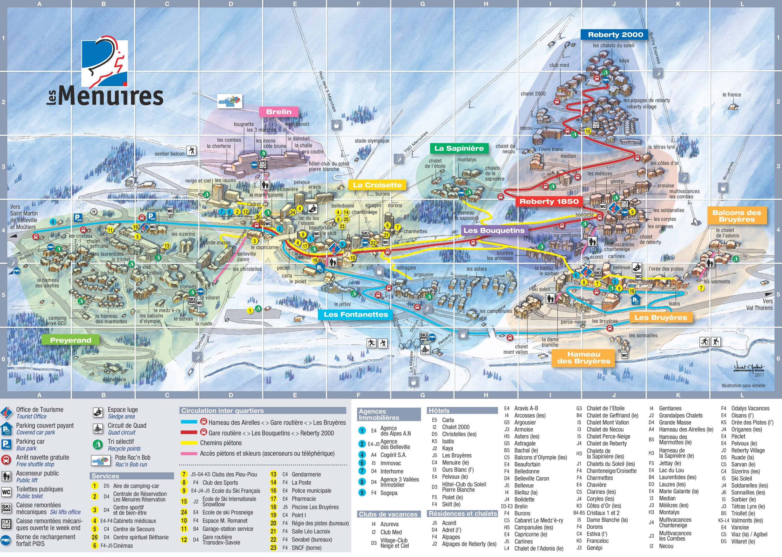 Google Tokyo Les Menuires Hotel Map