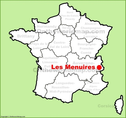 Les Menuires Location Map