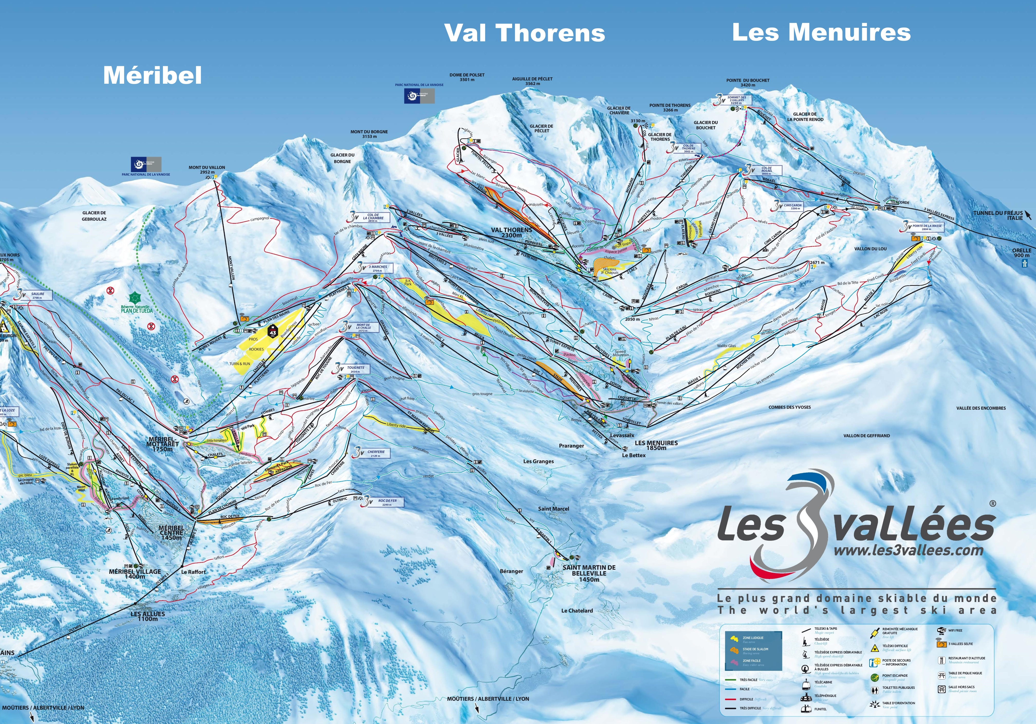 Meribel Maps France Maps of Meribel