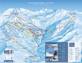 Les Menuires ski map