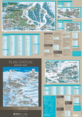 Meribel hotel map