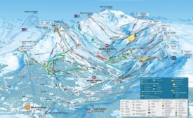Meribel ski map
