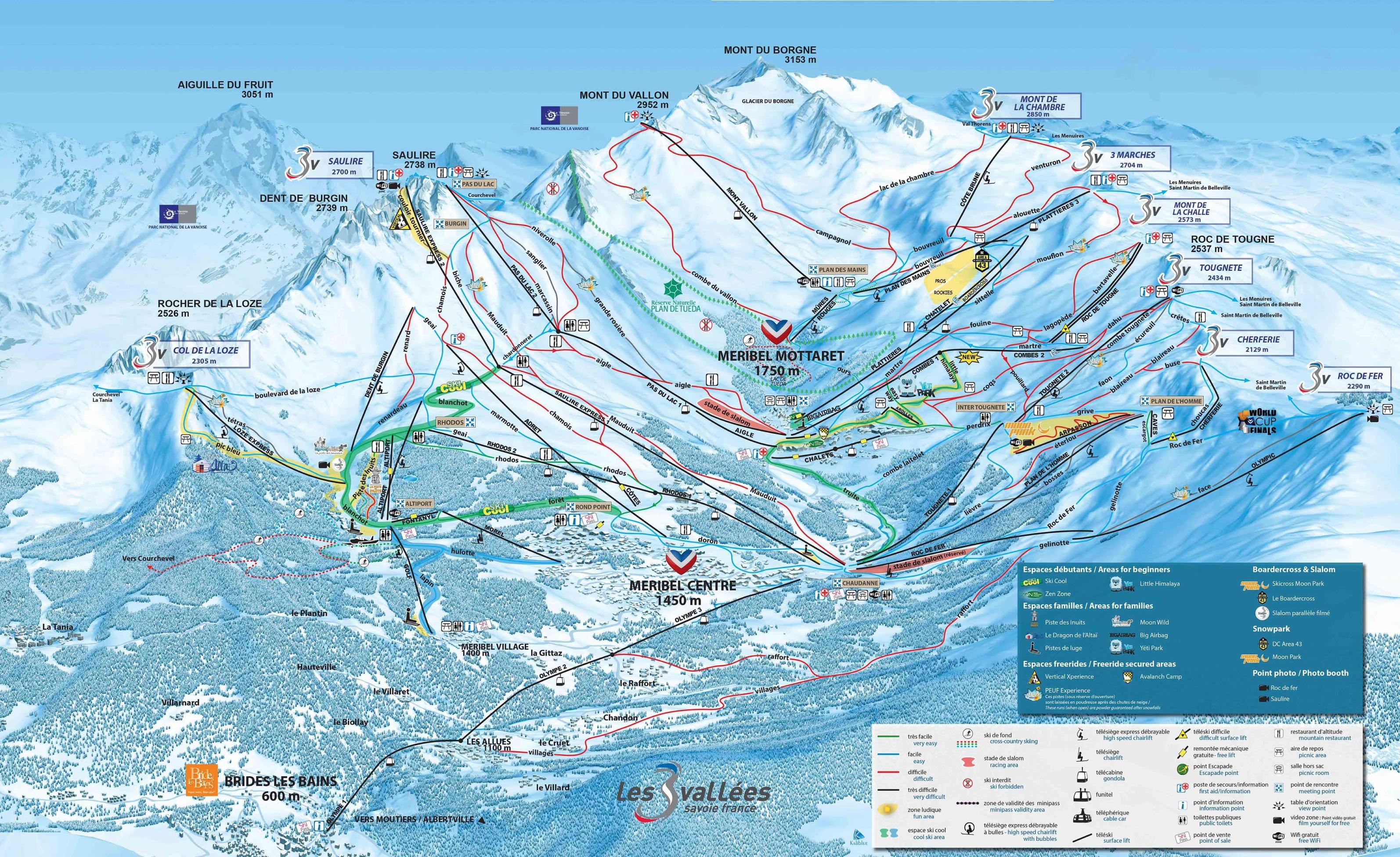 Meribel Maps France Maps of Meribel