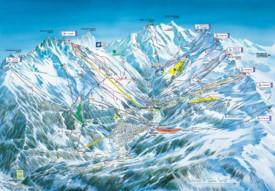 Meribel ski resort map