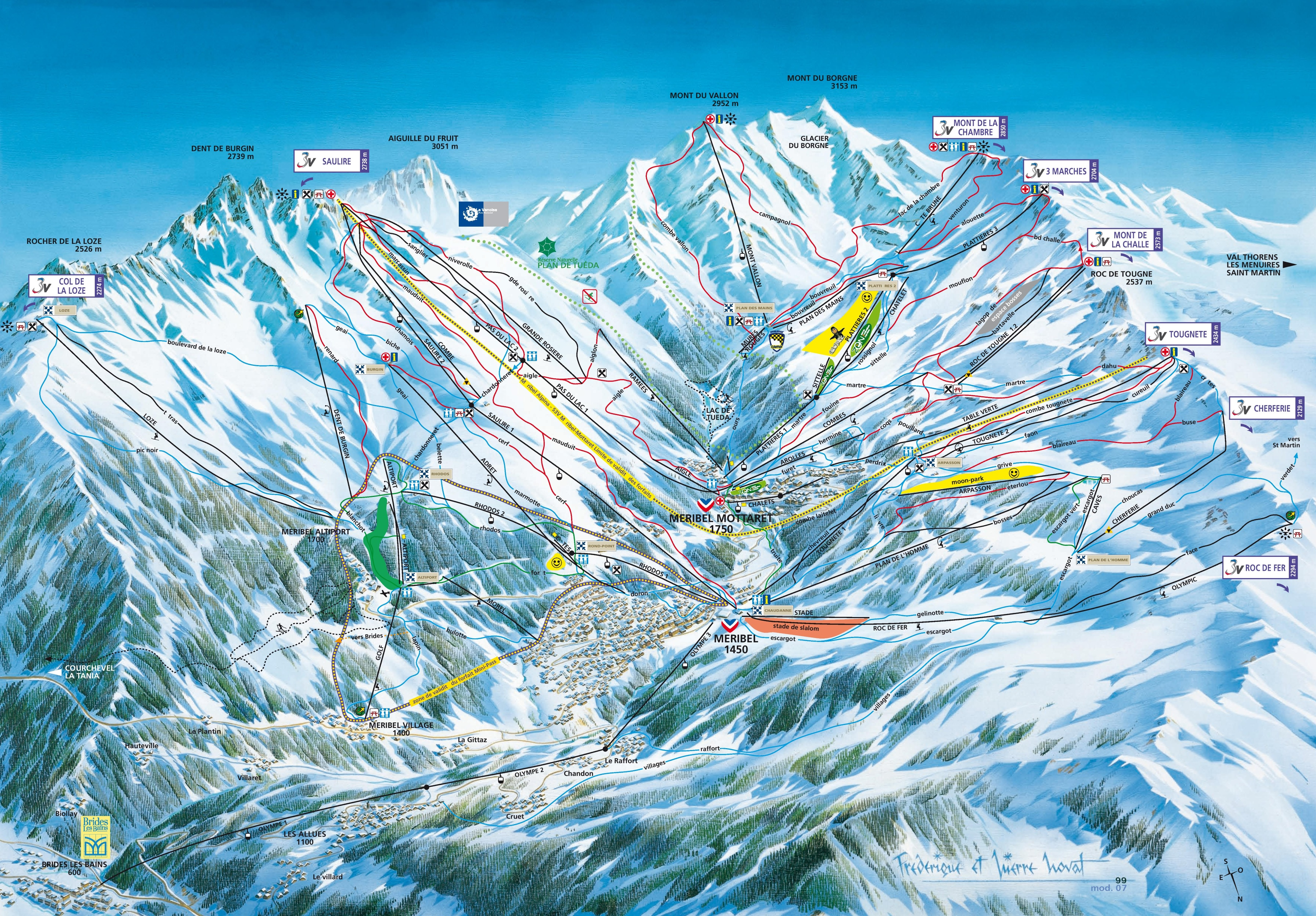 Meribel ski resort map