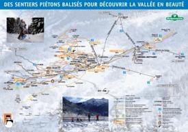 Meribel walking snowshoeing map