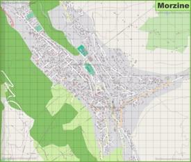 Large detailed map of Morzine