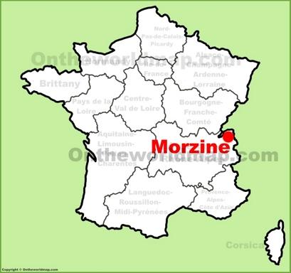 Morzine Location Map
